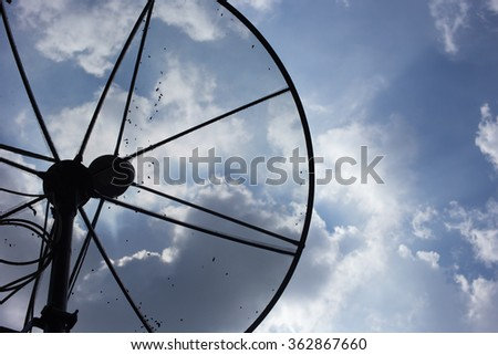 satellite dish on the sky.