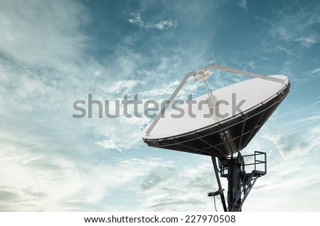 Satellite Dishes for telecommunication - stock photo