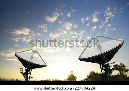 Satellite Dishes for telecommunication - stock photo
