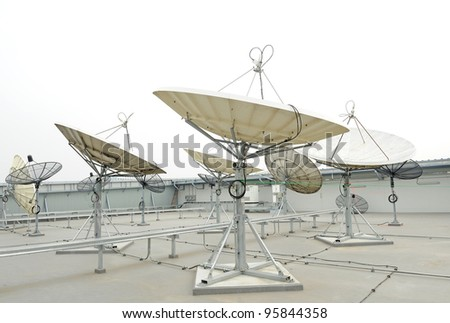 satellite dishes on roof