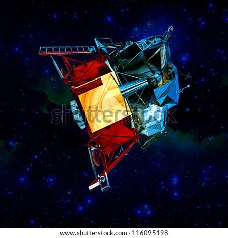 Satellite in space - stock photo