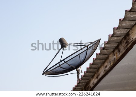 Satellite network that the world must be used - stock photo