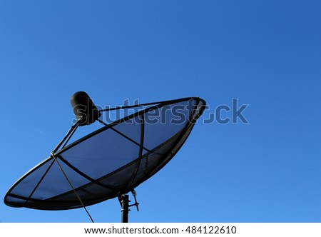 Satellite with beautiful sky