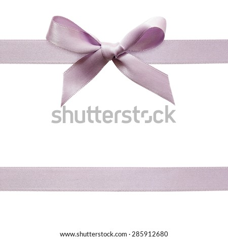 Satin bow isolated on white