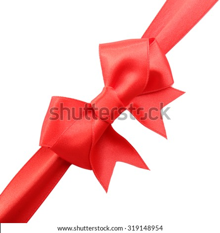 Satin ribbon isolated on white