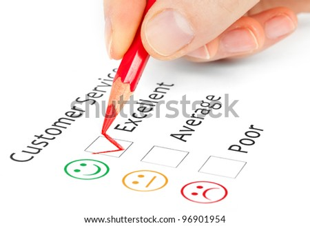 satisfaction survey showing marketing concept - stock photo