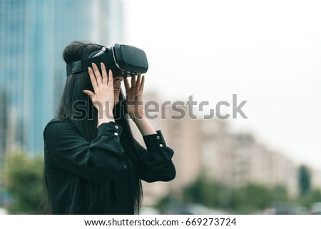 Satisfied VR tester, enjoys her new sci-fi product, happy to have this opportunity,  waiting to be one of the product's customer. Augmented, Mixed and Virtual Reality 360 video and 3D video