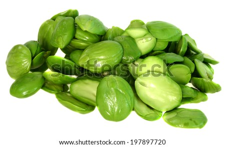 Sato seeds isolated on white background.