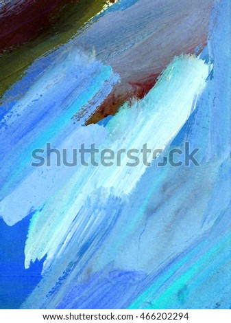 Saturated blue oil painting