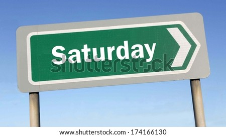 Saturday week next or following day schedule concept for appointment or event in agenda  - stock photo