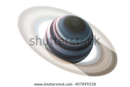 Saturn - High resolution 3D images presents planets of the solar system. This image elements furnished by NASA - stock photo