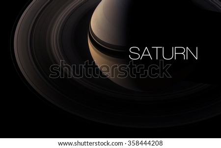 Saturn - High resolution images presents planets of the solar system. This image elements furnished by NASA. - stock photo