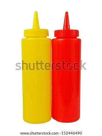 Sauce bottle - stock photo