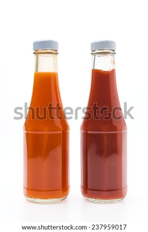 Sauce bottle isolated on white