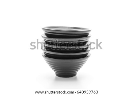 sauce cup on white background