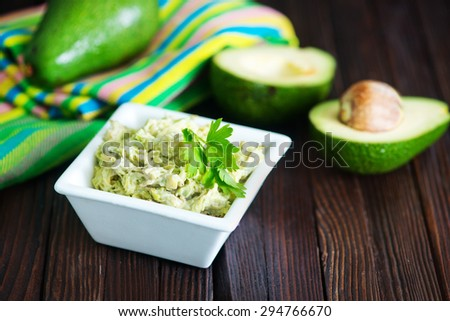 sauce from avocado - stock photo