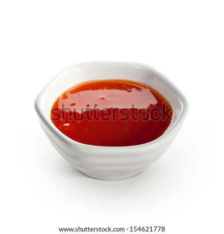 Sauce Isolated over White - stock photo