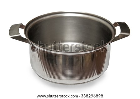 Saucepan isolated on white background - stock photo