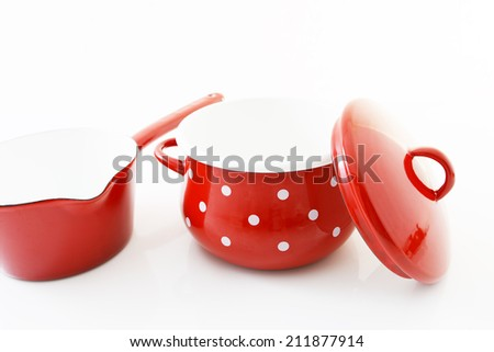 Saucepan with pot - stock photo