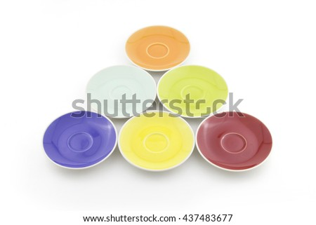 saucer isolated on a white background