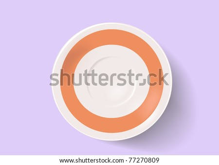 Saucer on a grey background - stock photo