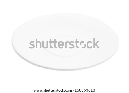 saucer on a white background