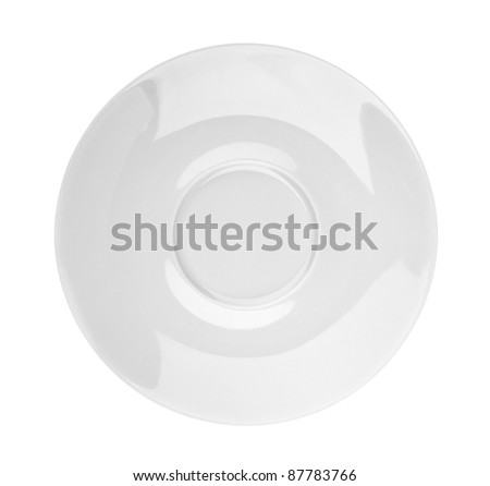 Saucer on white background - stock photo