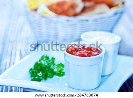 sauces for chicken wings - stock photo
