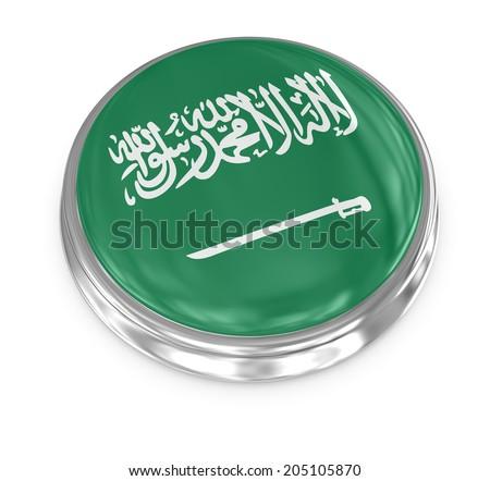 Saudi Arabia badge , computer generated image. 3d render. - stock photo