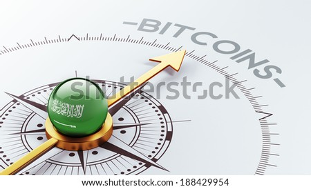 Saudi Arabia High Resolution Bitcoin Concept - stock photo