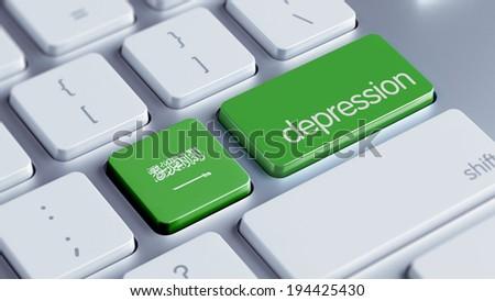 Saudi Arabia High Resolution Depression Concept - stock photo