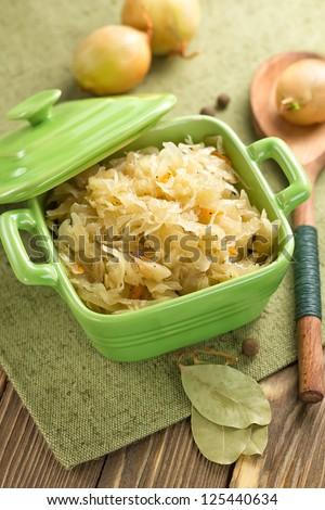 Sauerkraut - stock photo