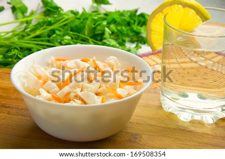 sauerkraut on a plate - stock photo