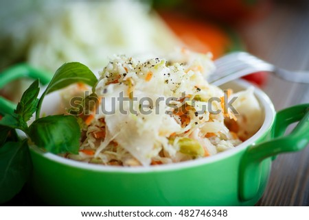 Sauerkraut with carrots in a bowl