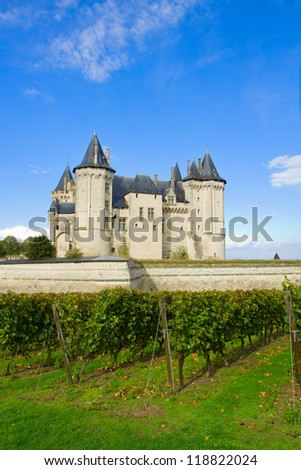 Saumur castle in the Loire Valley, France - stock photo