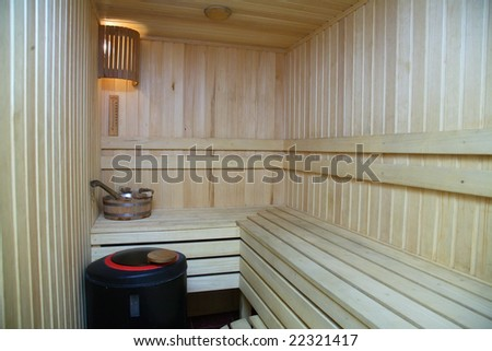 sauna - stock photo