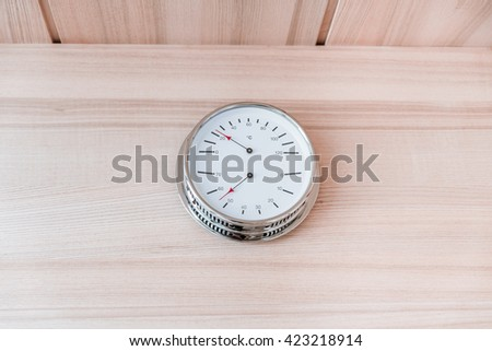 sauna and relaxation, clock - stock photo