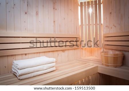 sauna bath - stock photo