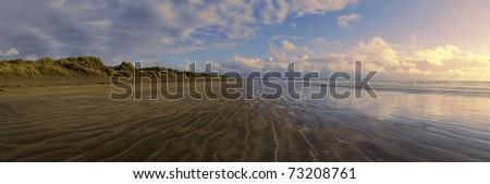 saunton sands north devon coast england uk - stock photo