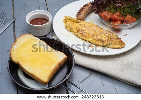 sausage and omlette