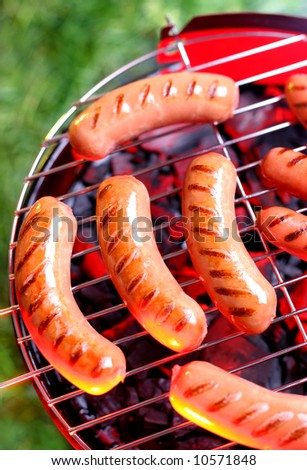 sausage barbecue - stock photo