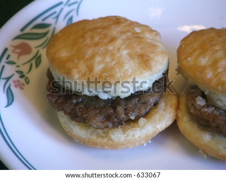 sausage biscuits - stock photo