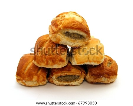 Sausage Rolls - stock photo