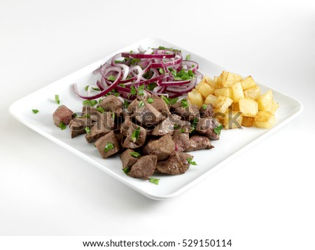 sauteed meat