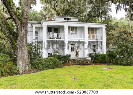 SAVANNAH, GA USA - NOVEMBER 1, 2013: beautifully restored home in the historic residential district.