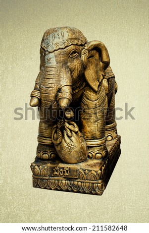 Save clipping path Elephant Sculpture of thailand