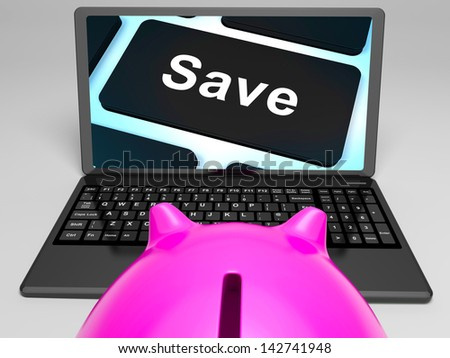 Save Key On Laptop Shows Promotional Prices And Discounts