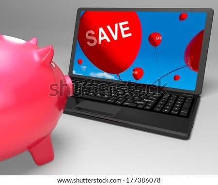 Save Laptop Showing Promos And Discounts On Internet
