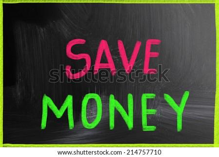 save money concept - stock photo