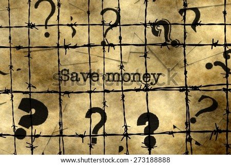 Save money concept
